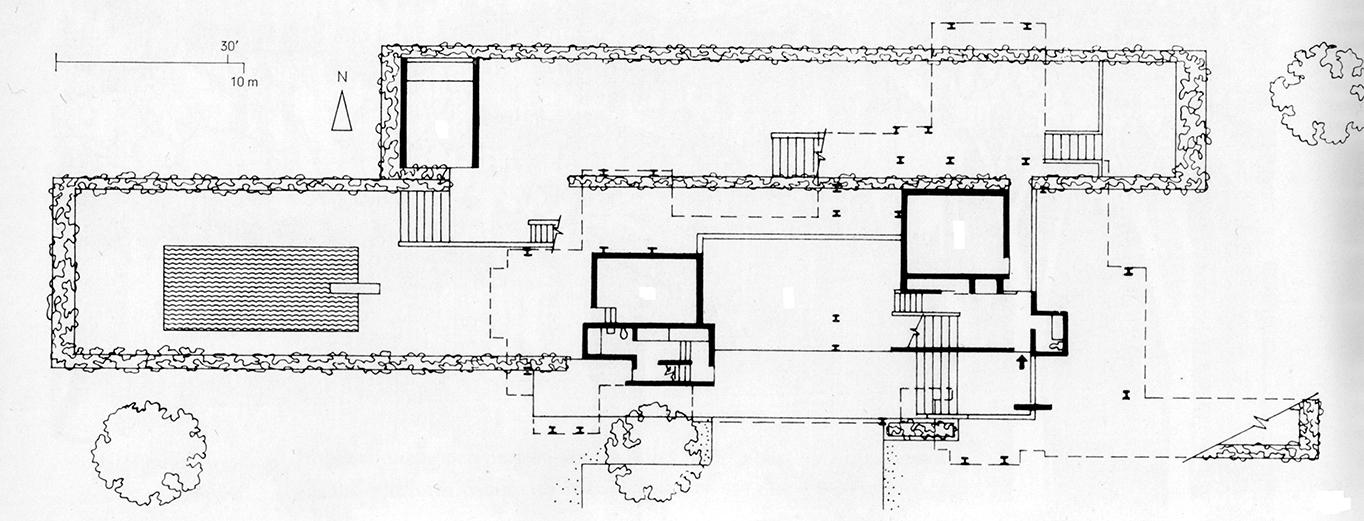 Callahan Residence. Birmingham, Alabama. First Floor Plan.