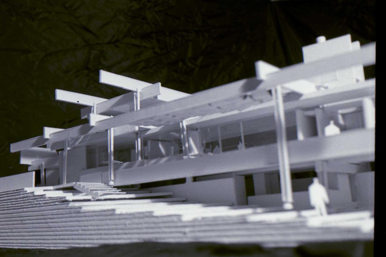 Micheels Residence, 16 Minute Man Hill, Westport, CT. Photo of Presentation Model.