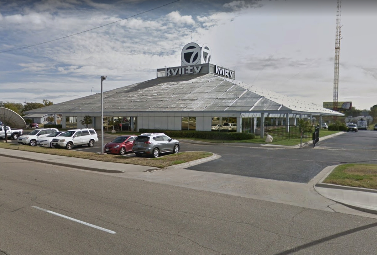 Television Station, Amarillo, Texas. Photo of Building Exterior.