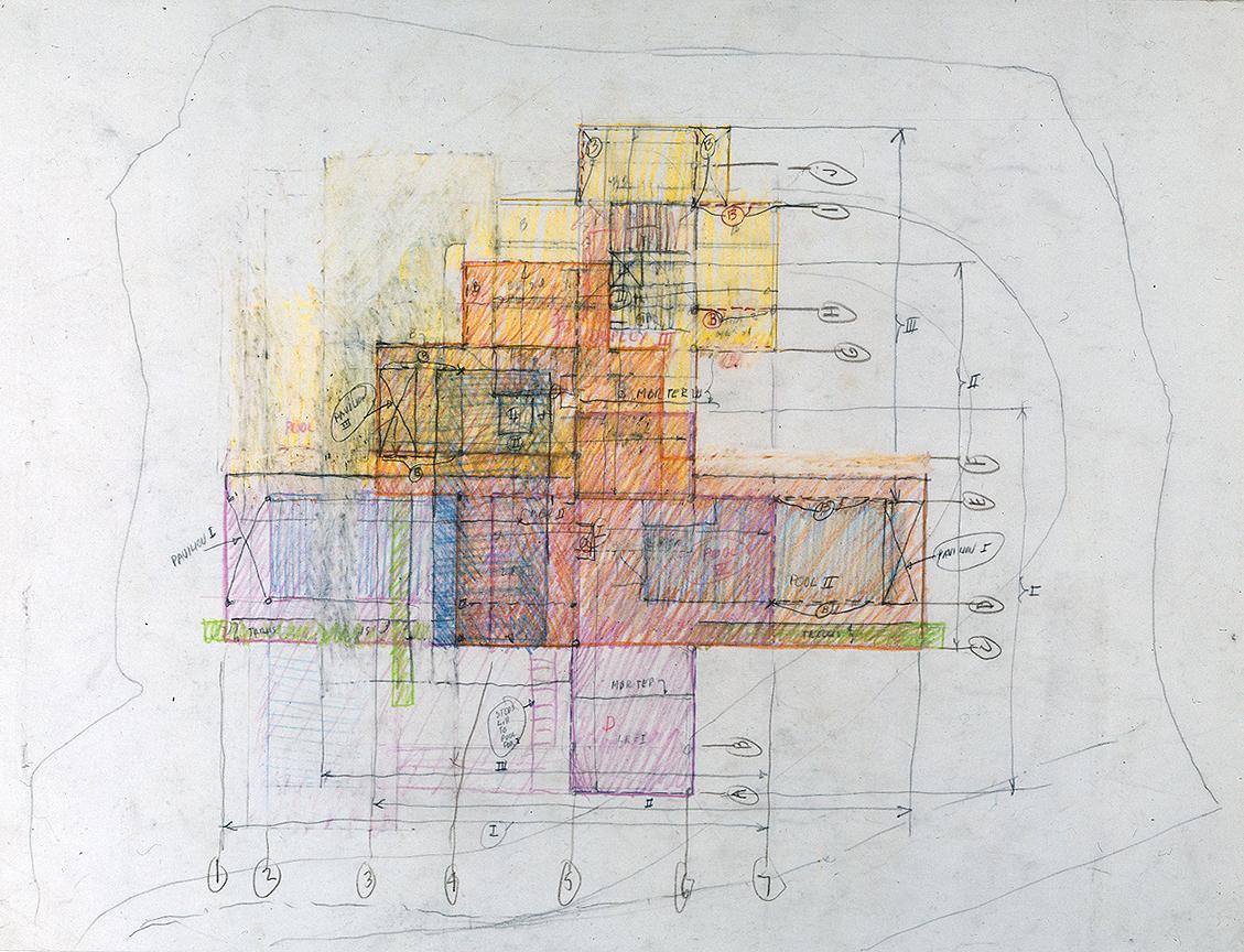 Wee Ee Chao condominiums, Hong Kong, China. Floor Plan Sketch.