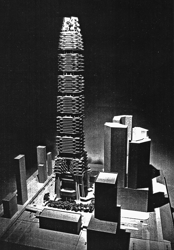 Sino Tower (Harbour Road Project), Hong Kong, China.  Photo of Project Model.