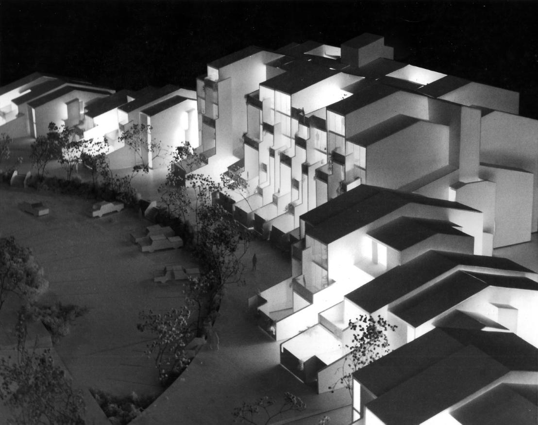 Buffalo Waterfront Housing Project (Shoreline Apartments).  Photo of Presentation Model. Phase 2.