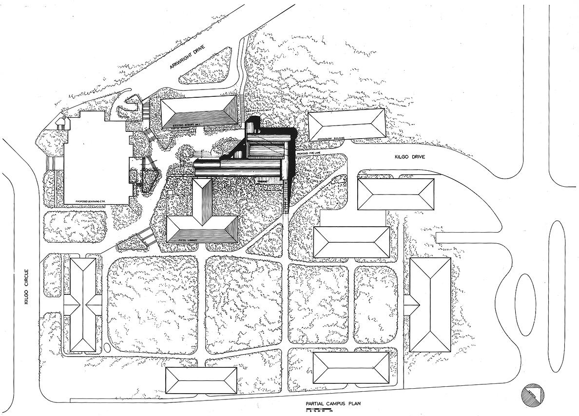 Cannon Chapel at Emory University, Atlanta, Georgia. Site Plan Rendering.