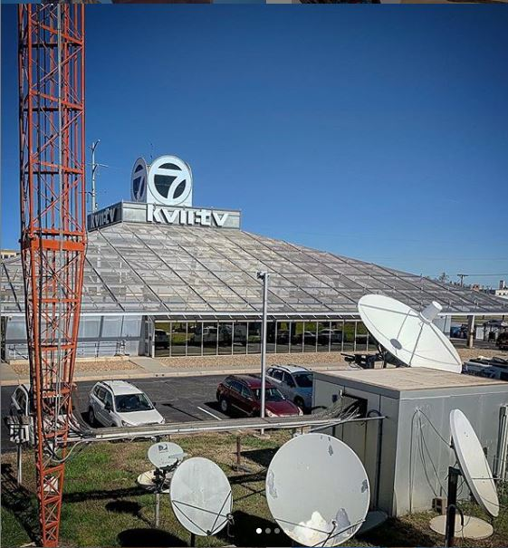 A view of the South side, with the station's many antennae in the foreground. Photo © Ben Koush, used with permission.