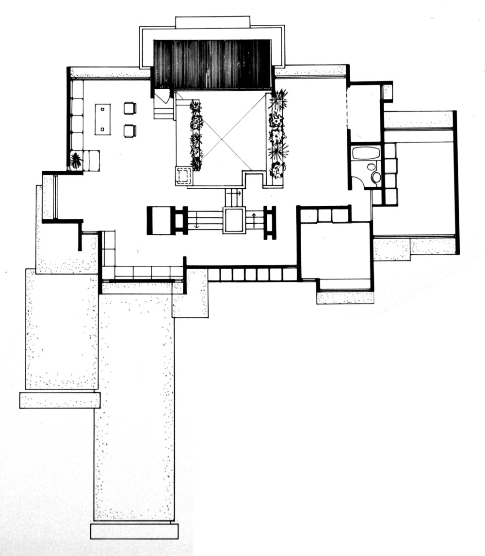Parcells Residence, 3 Cameron Place, Grosse Pointe, Michigan. Second Floor Plan.
