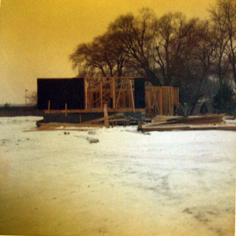 Parcells Residence, 3 Cameron Place, Grosse Pointe, Michigan. Undated Construction Photo.