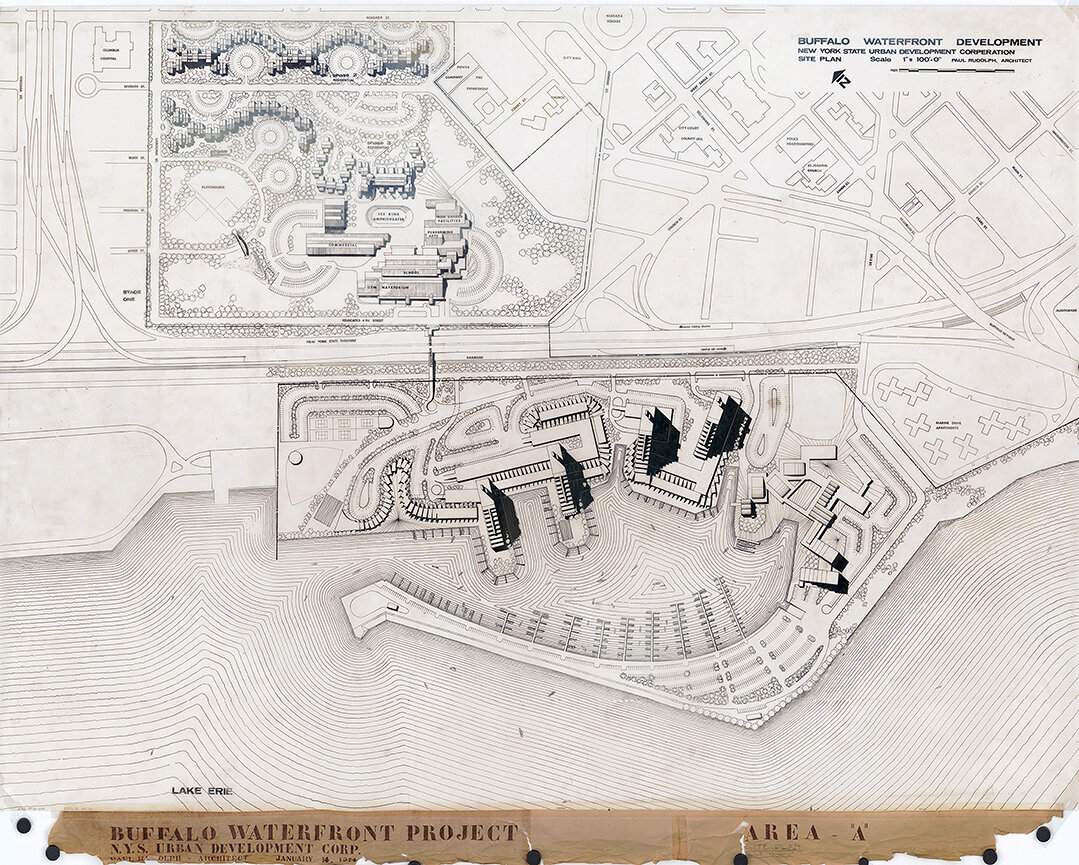 Buffalo Waterfront Housing Project (Shoreline Apartments). Site Plan of Area 'A'. January 14, 1974.