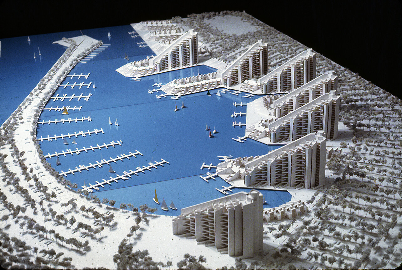 Buffalo Waterfront Housing Project (Shoreline Apartments).  Photo of Presentation Model of Area 'A'.