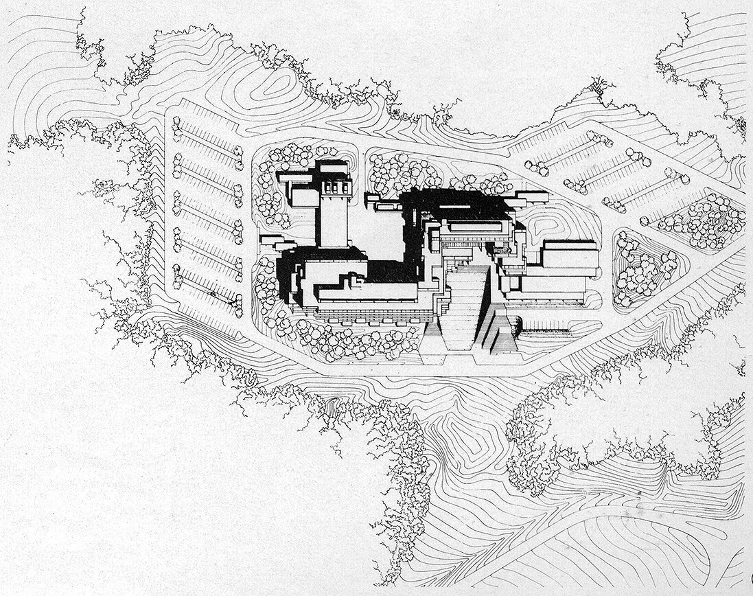 Burroughs Wellcome Company, Research Triangle Park, North Carolina. Site Plan.
