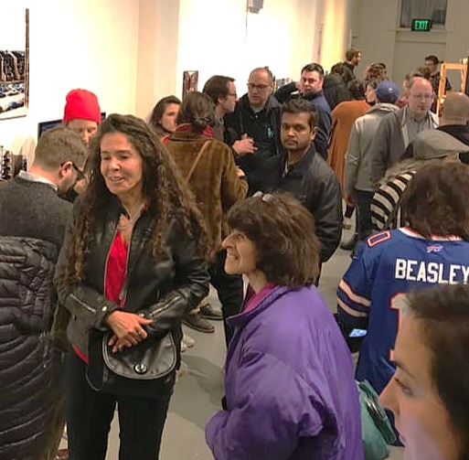 """Barbara Campagna reported that it was a """"Jam packed museum exhibit opening…""""—and the photos testify the same. [Photo by Barbara Campagna]"""