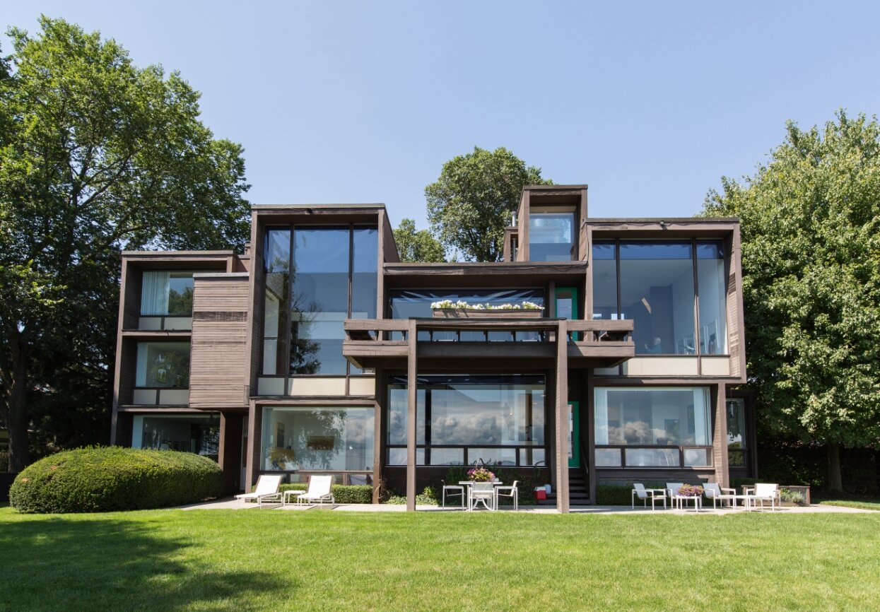 Parcells Residence, 3 Cameron Place, Grosse Pointe, Michigan. Photo dated August 17, 2014.