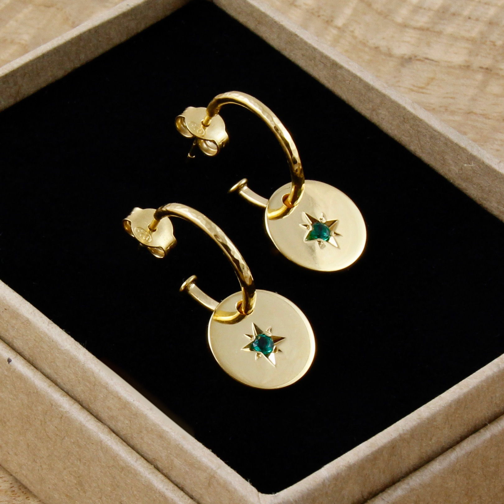 Emerald Star Earrings Gold.jpg