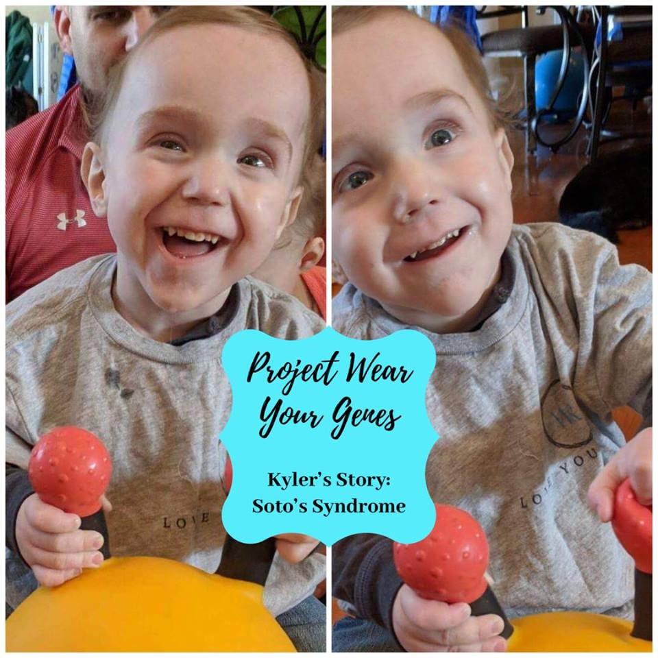"Kyler's Story - The central tenant of Love Your Genes is spreading awareness. While Love Your Genes is an inclusive movement of self-love, Project Wear Your Genes is about spreading awareness to specific genetic diseases. Here is little Kyler rocking his Kid's LYG tee, looking cute as ever. Welcome to Kyler's story 💛""Hi! My name is Alyssa. I am the mother of three beautiful children, a singleton and a set of twins. One of the twins, Kyler, had a very scary start to life and spent the first several months of life in the hospital. Kyler is medically complex and has a list of diagnoses, one of them being Sotos Syndrome.Sotos syndrome is a rare genetic disorder, occurring in approximately 1 in 14,000 children. It is characterized by a distinctive facial appearance, overgrowth in childhood, intellectual disability and hypotonia (low muscle tone).Kyler is loved just the way he is, and I would never change anything about him. One thing I wish I could change is the way society views those who are different or have additional needs. I encourage everyone to have the ability to recognize and accept others' differences, and celebrate them. I am grateful for this wonderful campaign and hope that it is successful in bringing awareness to Sotos Syndrome, as well as other rare genetic disorders.""To learn more about Soto's Syndrome & how to get involved, check out the website below!https://sotossyndrome.org/sotos-syndrome"