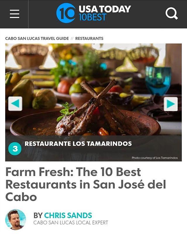 Los Tamarindos, ranked in the USA Today 10 best @10best restaurants in San Jose del Cabo, Mexico. Congratulations Chef Enrique Silva @Enriquetamarindos and @lostamarindos staff! #lostamarindos #farmtotable #restaurant #loscabos #cabo #mexico #mexicancuisi  https://www.10best.com/destinations/mexico/cabo-san-lucas/restaurants/san-jose-del-cabos-best/