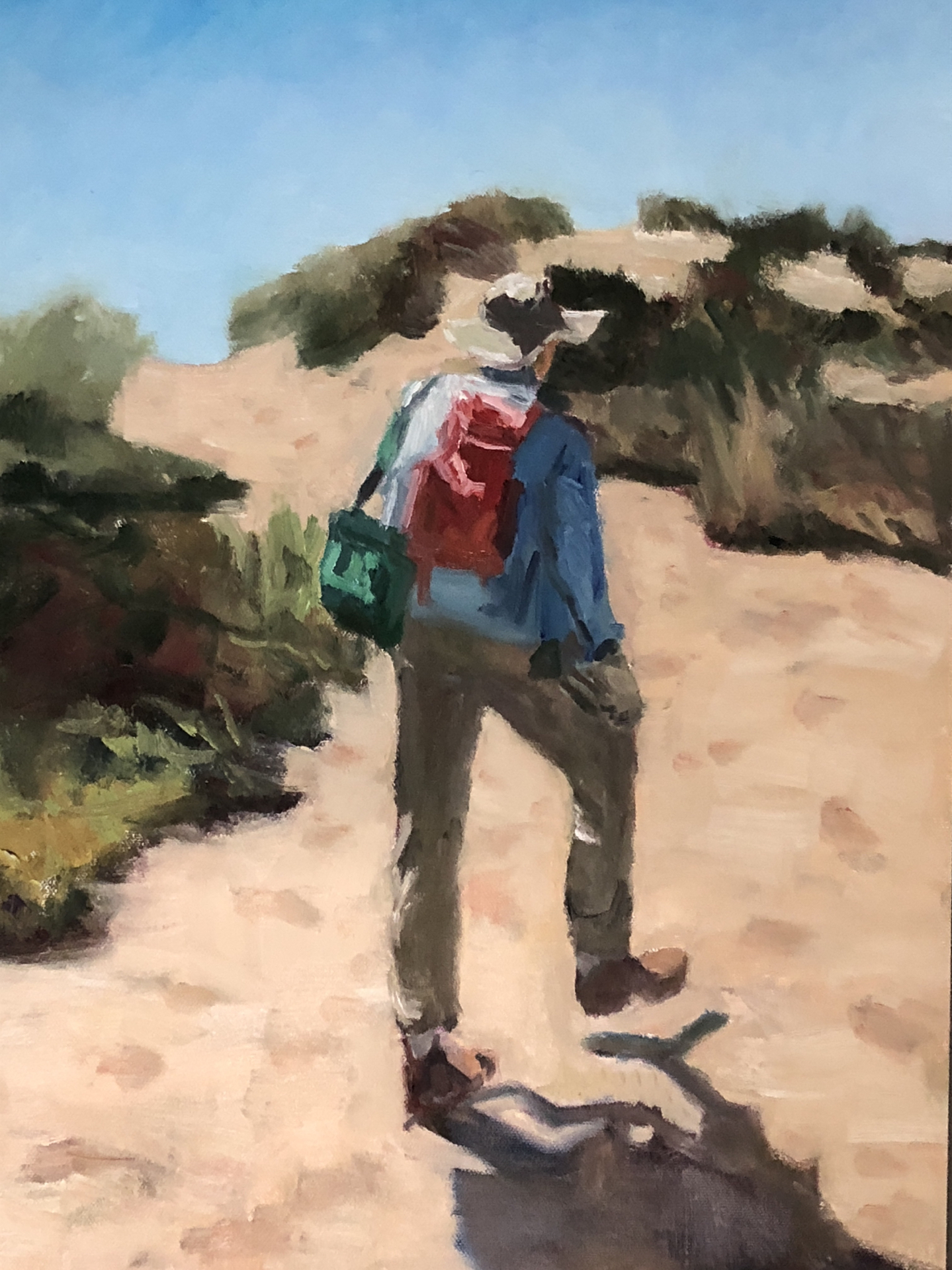 Landau,Jill-Hike to the Beach- 14x18- oil on baord.jpg