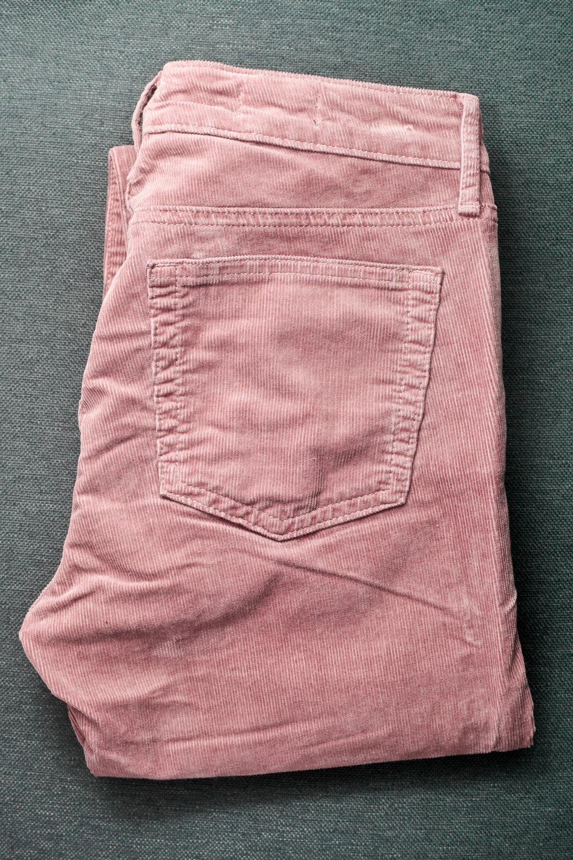 Example of corduroy pants