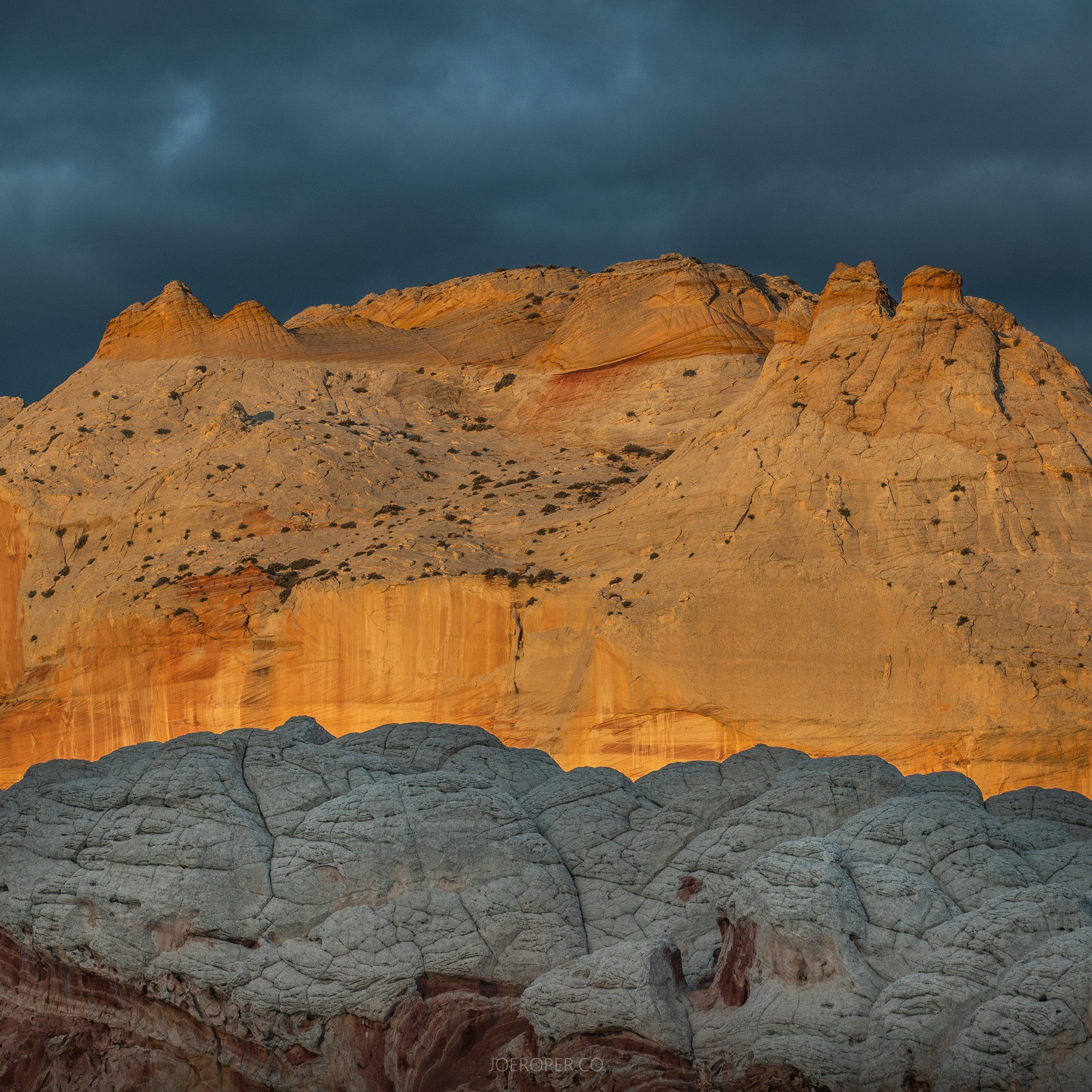 White Pocket Castle Sunrise Darkness-08010.jpg