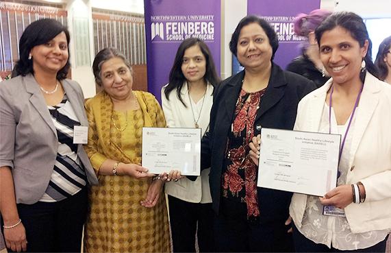 SAHELI Project Manager, Mrs. Swapna Dave, MAFS Manager, Mrs. Promila Mehta, MAFS Health Coordinator, Ms. Himali Bharucha, MAFS Executive Director, Mrs. Santosh Kumar, SAHELI Project Investigator Dr. Kandula