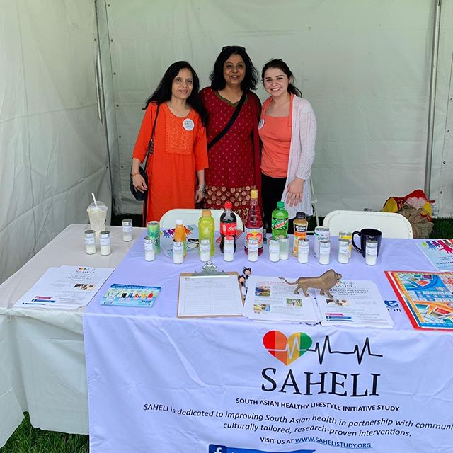 Come say hi 👋🏽 to the SAHELI Team at the Skokie Festival of Cultures! You can find us here today and tomorrow at the Pakistan 🇵🇰 and India 🇮🇳 booths! #sahelistudy #southasianhealth #festivalofcultures