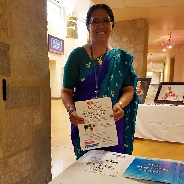 Our Stakeholder Advisory Board Member, Jagruti, doing outreach at Kalapadma Dance Academy's annual celebration! Thanks, Jagruti! 💃🏽💃🏾#southasianhealth #sahelistudy