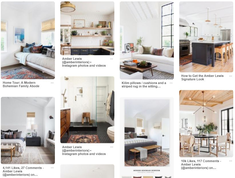 Example inspiration board on Pinterest with relaxing neutrals