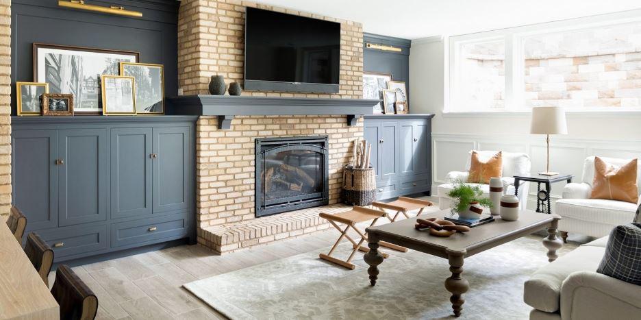 fireplace-blue-cabinets.JPG