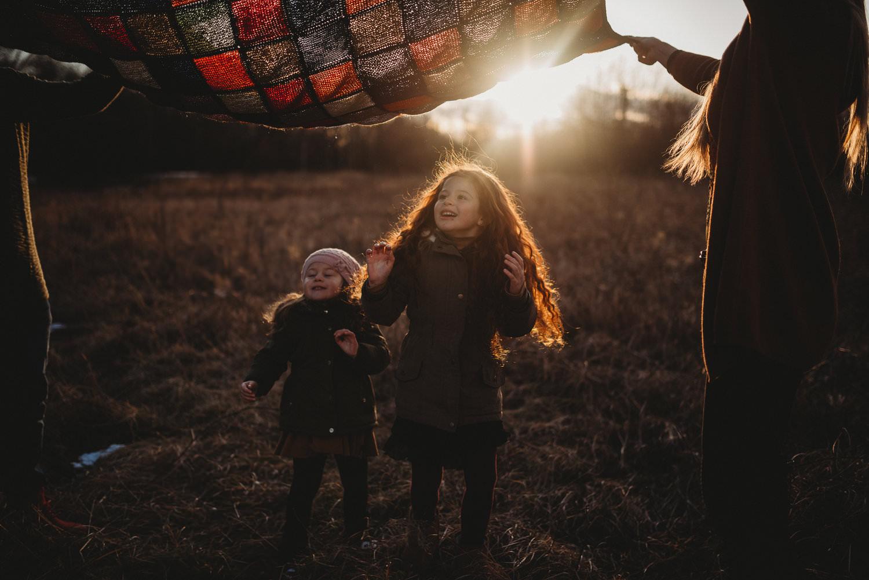 Rodinný fotograf Praha  Zimní rodinné focení Chomutov