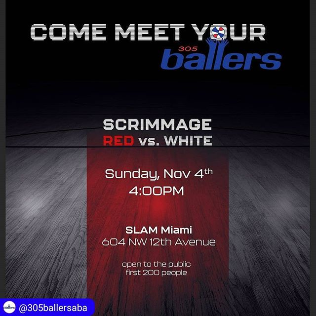 Come join Fast Twitch and the @305ballersaba at SLAM Academy today. #ABA #basketball #miami  #Repost from @305ballersaba ・・・