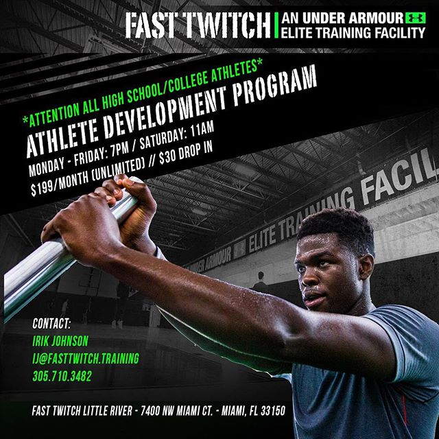 Make sure your offseason is based around performance training. Fast Twitch's program includes strength, plyometrics, and high speed treadmill work. #miami #miamibeach #highschool #college #offseason #dadecounty #speed #strength #power #highspeed #agility #fasttwitch