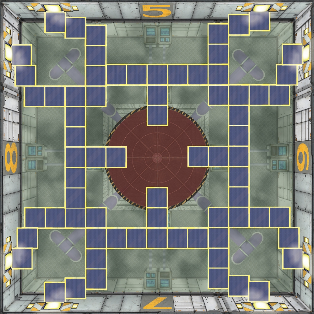 168mm tile, different aspects were scaled differently to maintain perspective.