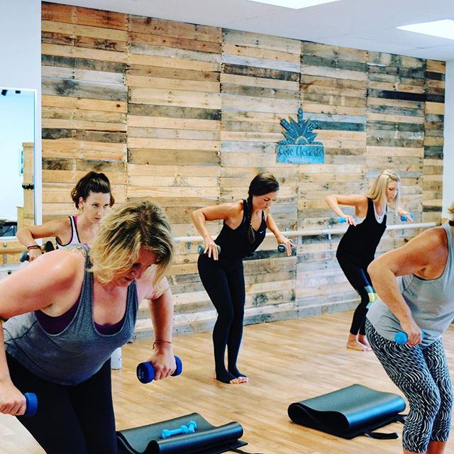 "Have you tired barre yet? We're offering a ""Bring a friend"" special this month. $10 introductory rate for your first barre class. Our workouts are low on impact and high on results. Tone and sculpt @coreelementspilatesbarre"