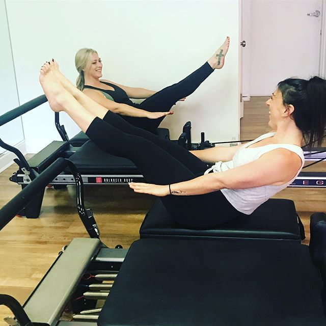 Good friends make you go to Pilates with them. #bossbabes #teaser #balancedbodypilates
