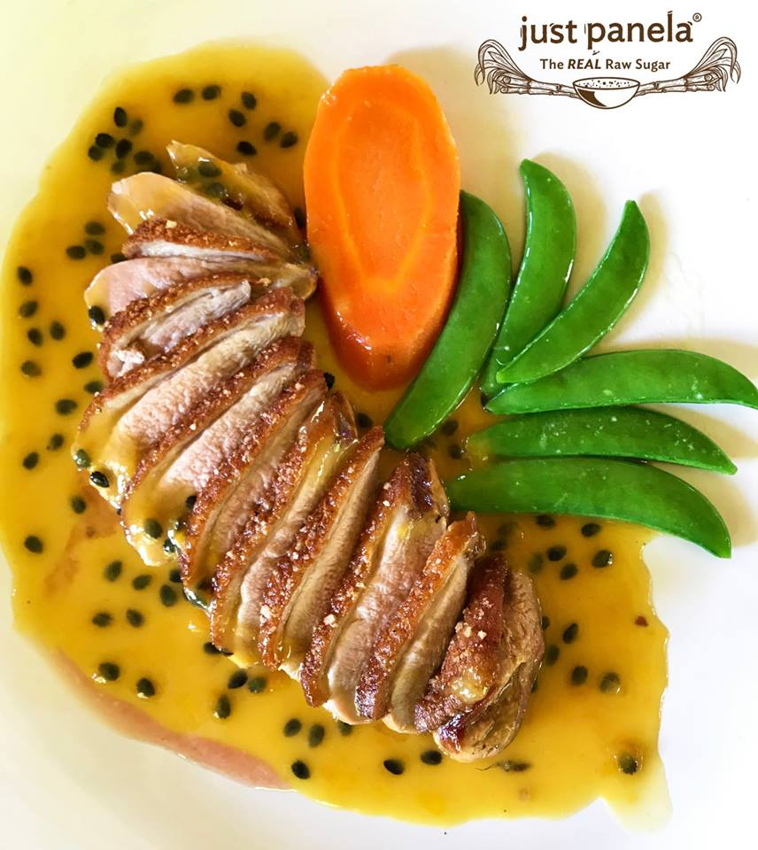 Duck Breast with Just Panela Passion Fruit and Whiskey Sauce -