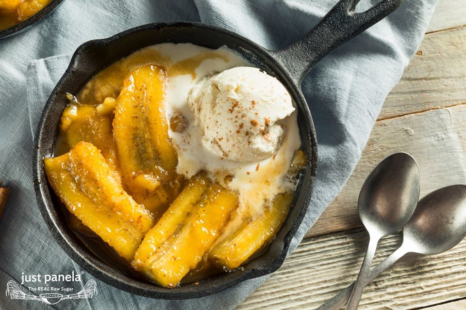 Just Panela Bananas Foster al la Mode -