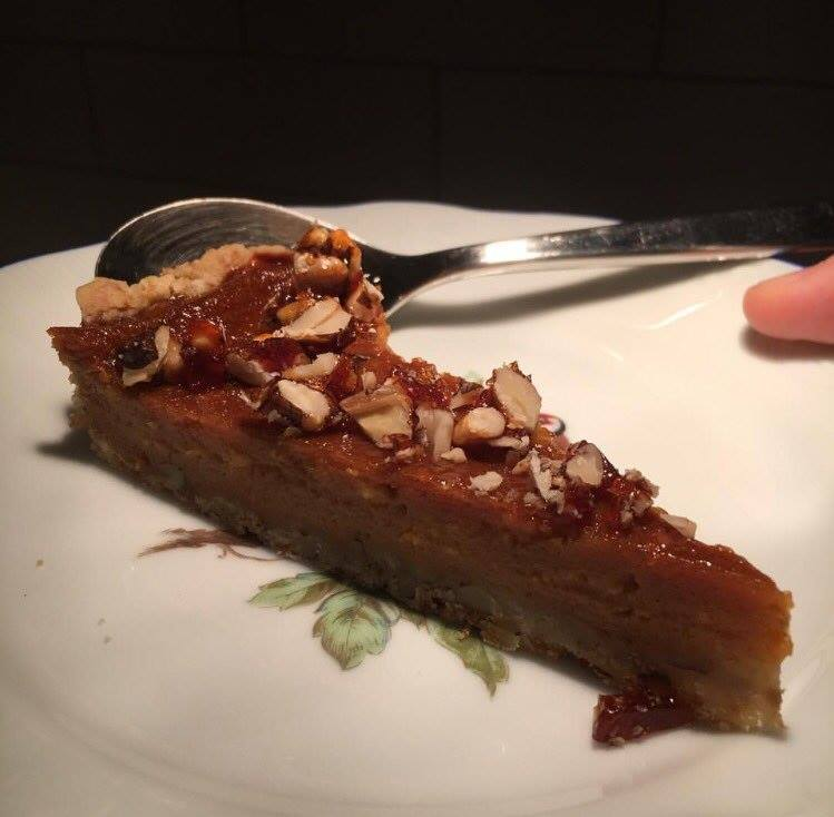 Just Panela Ginger Almond Pumpkin Tart  -