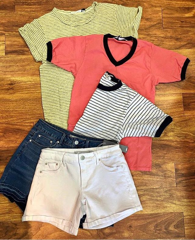 Shorts 'n Tees, Pleeze😎#goingfast #summerstyle #onsale #thatsit #storeclosing #shopnow