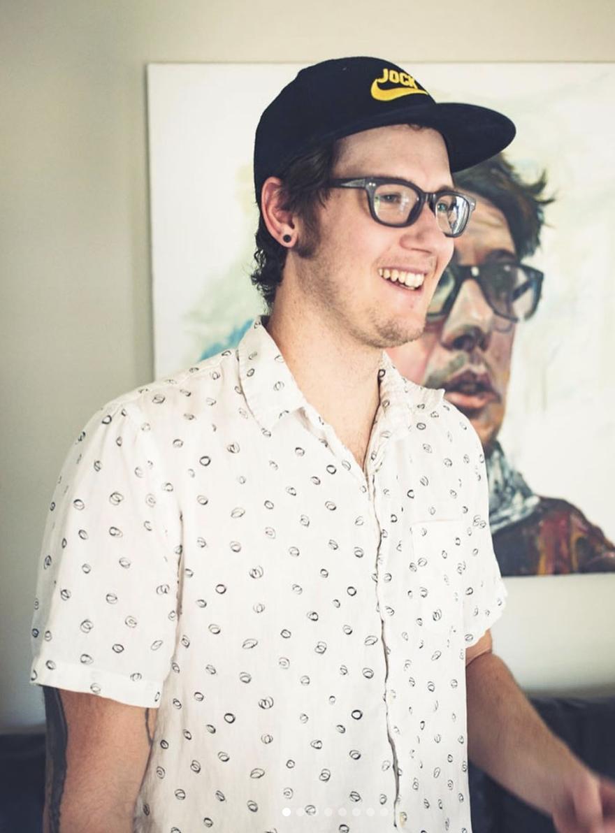 Neil with Self Portrait, Photo by  Paul Dimalanta