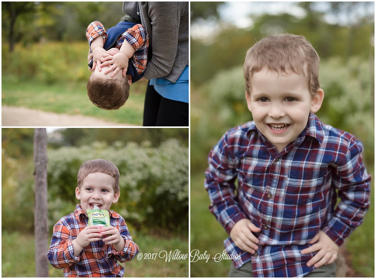three year old boys playing outdoors
