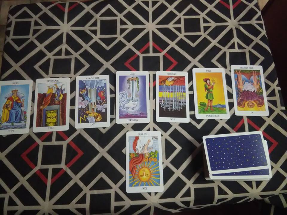 Spiritual Guidance Spread  - This is used when you are facing issues or obstales of the spiritual nature usually related to your own growth and development.