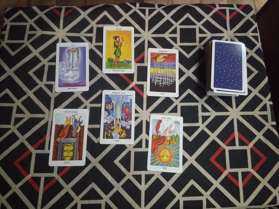Past Life Spread - This spread gives you insight of what your soul journey went through in your past life.