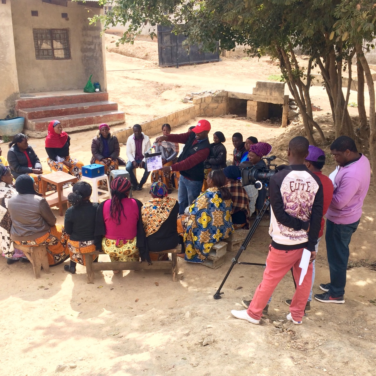 Filming a training video in Zambia