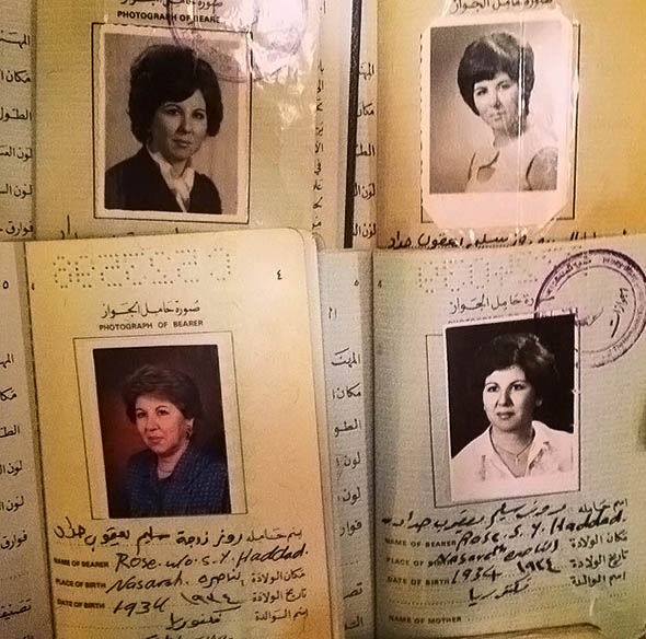 the author'€™s grandmother'€™s passports over the years.
