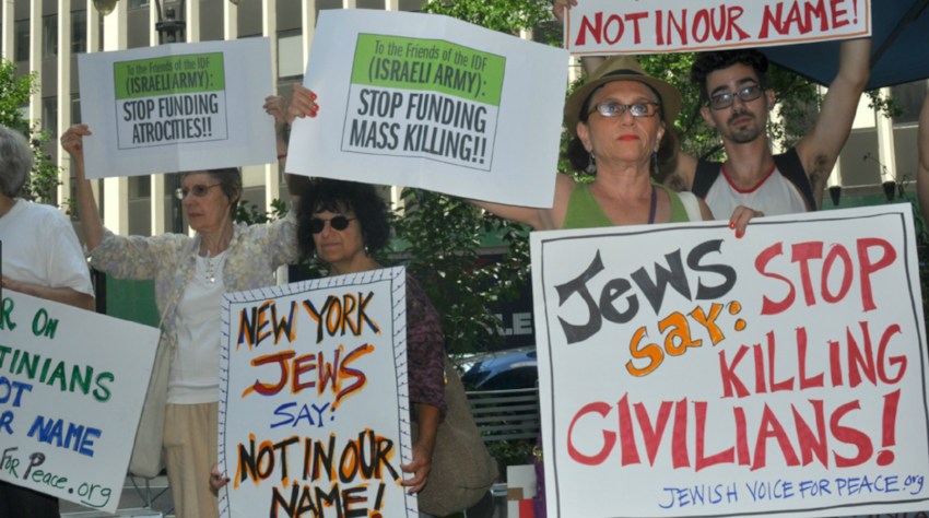 A Jewish Voice for Peace protest in New York City, July 2014.