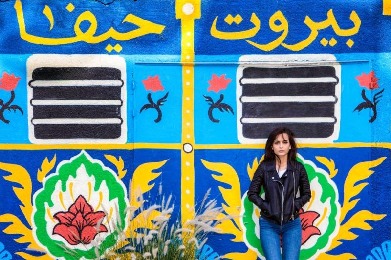 College student Raya Shamali (Photo by Mati Milstein)