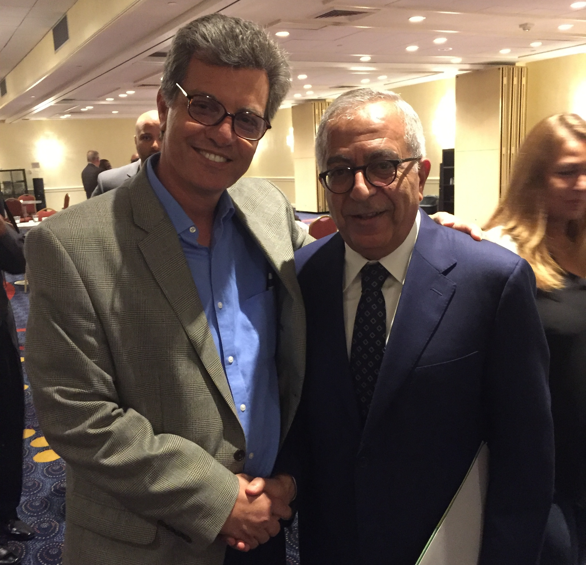 Ziyad with Salam Fayyad, forrmer Finance Minister and Prime Minister of the Palestinian Authority - at AMP 2016