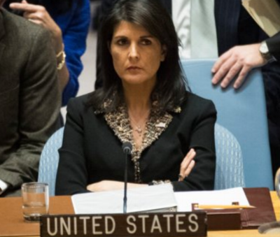 Nikki Haley has taken a combative posture at the UN on the Jerusalem issue. Andrew Angerer/Getty Images
