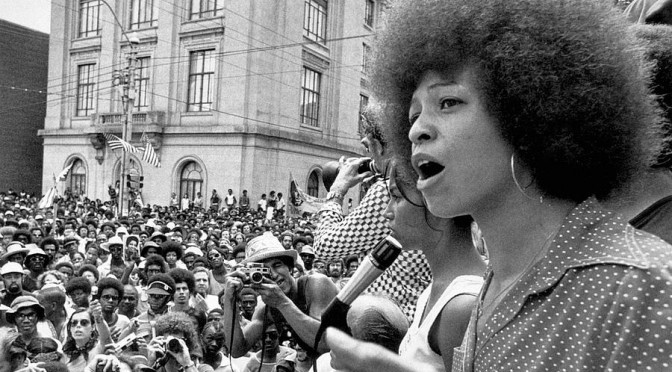 Angela Yvonne Davis emerged as a prominent counterculture activist in the 1960s working with the Communist Party USA, of which she was a member until 1991, and was briefly involved in the Black Panther Party during the Civil Rights Movement.