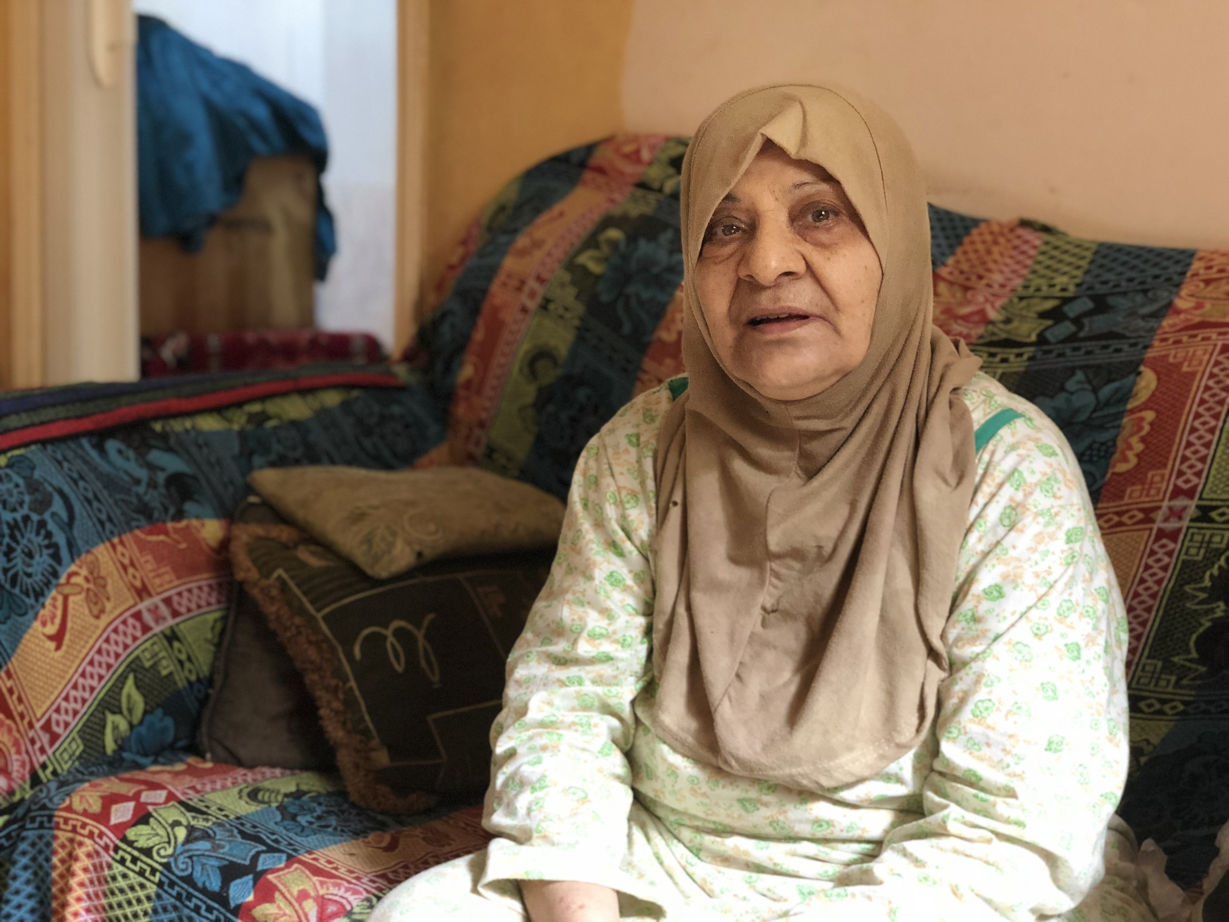 Fatima Feisal, 78,    Ein al-Hilweh    refugee camp, Sidon, Lebanon. Originally from    Tarshiha    in the Galilee.