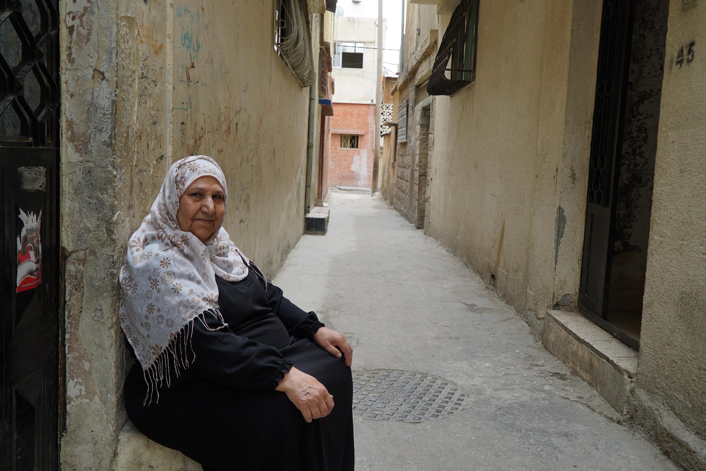 Naaseh Khaled Hamoudeh, 70, Wihdat Camp, Amman. Originally from    Deir Tarif    near Ramla.
