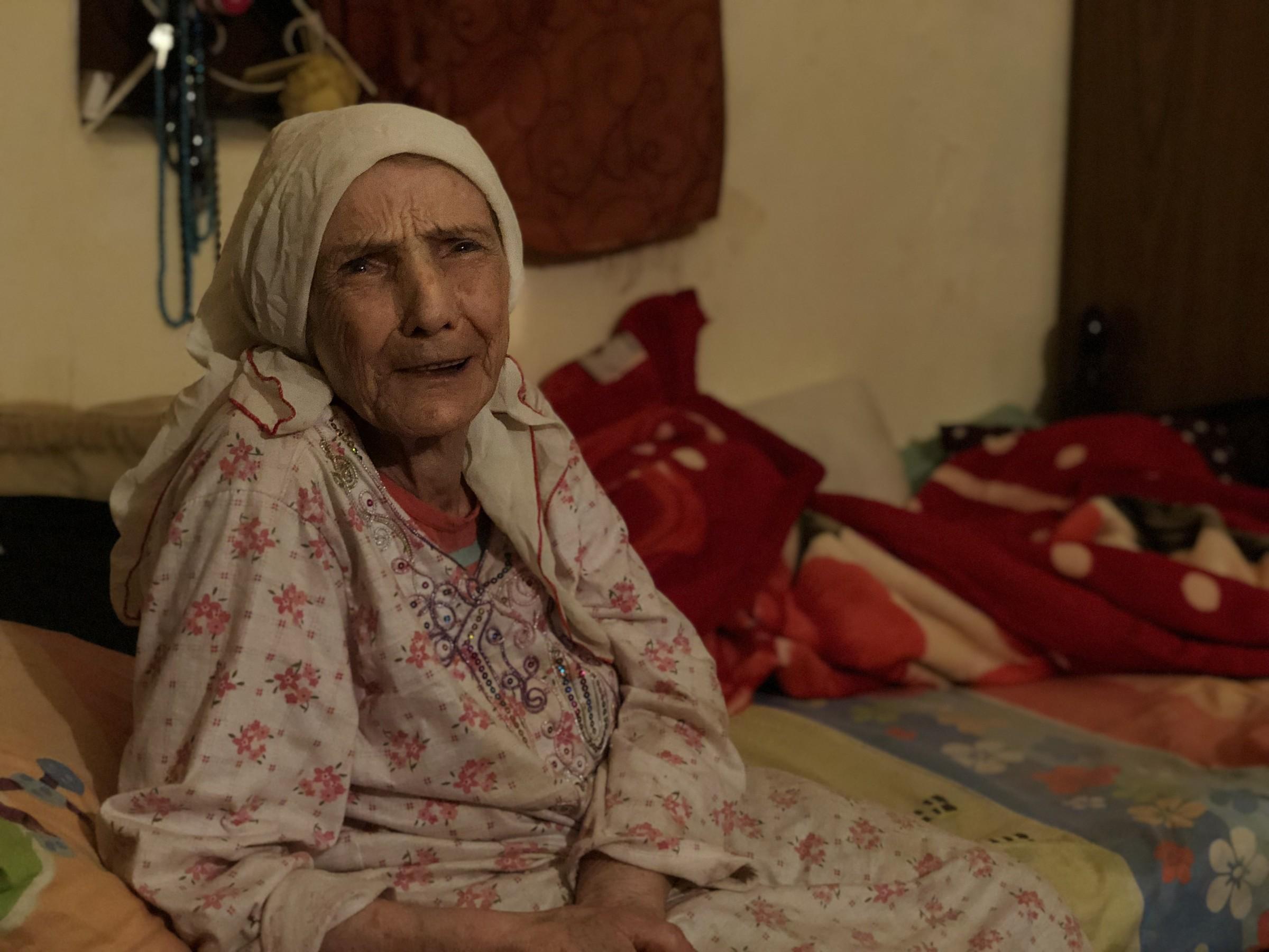 Khazna al-Sahli, 88, Burj al-Barajneh refugee camp, Beirut. Originally from    Balad al-Sheikh    near Haifa.